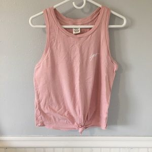VS PINK Knotted Muscle Tank Top